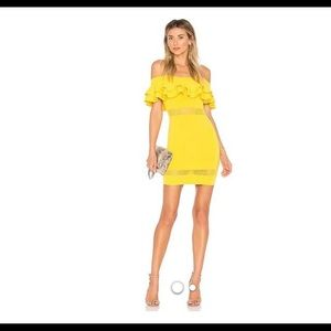 Yellow. By the way. Emilie Tiered knit dress